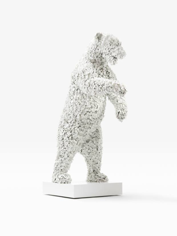 Barnaby Barford's lifelike polar bear sculpture, £78,000