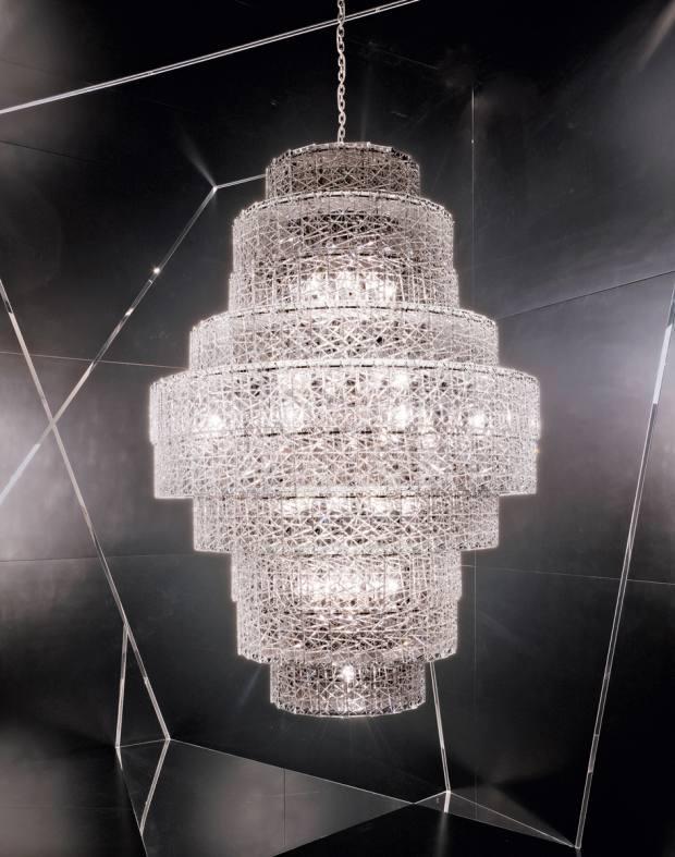 Arik Levyfor Baccarat tuile decristal Futuredeco chandelier, £66,900
