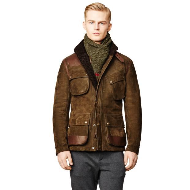 Ralph Lauren Purple Label shearling/suede jacket, £5,820