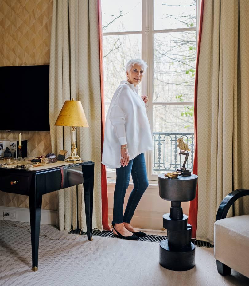 Linda Pinto at home in Paris