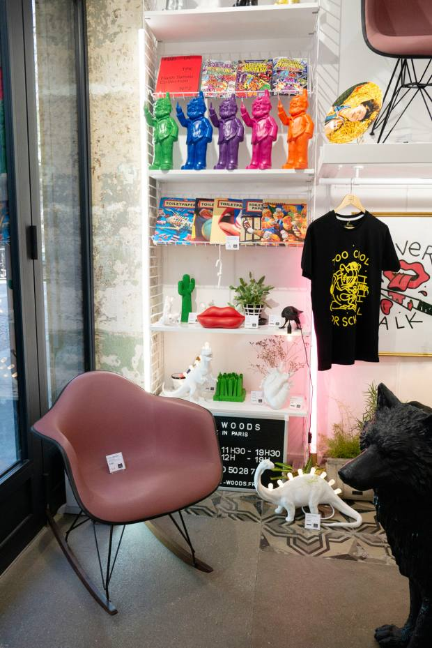The Montmartre store sells an eclectic mix of clothes, accessories and furniture