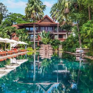The pool at Belmond La Résidence d'Angkor in Siem Reap