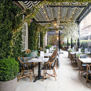 The Dalloway Terrace at The Bloomsbury hotel in London, which has had a makeover spearheaded by Martin Brudnizki