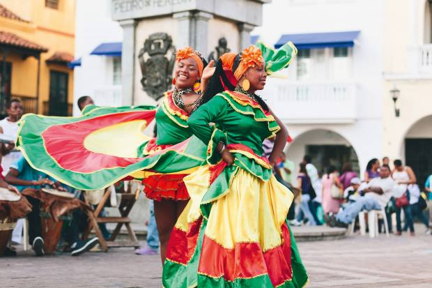 Cartagena's old city is alive with colour and activity