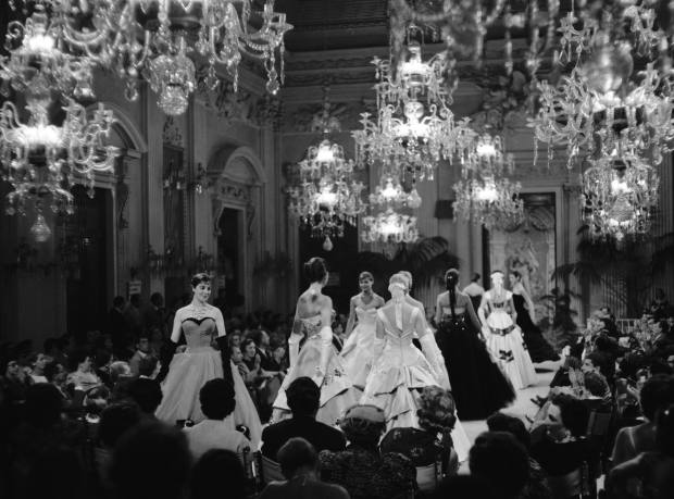 From 1952 fashion shows were held in the Sala Bianca in Florence's Palazzo Pitti