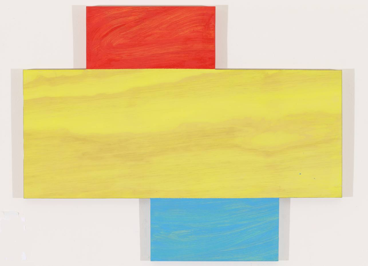 Idriss, oil on wood panel, by Mary Heilmann, 2012