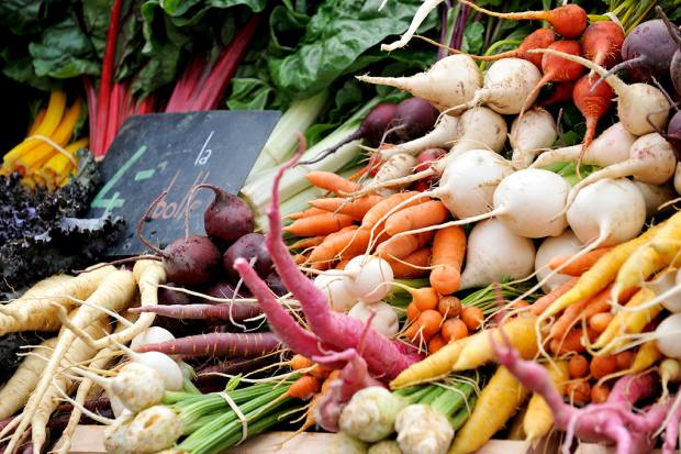 Visitors can find vegetables from the gardens of Marché Cuendet