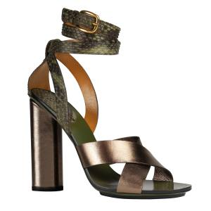 Gucci sandals in leather and python, £700. Also in other colours/materials