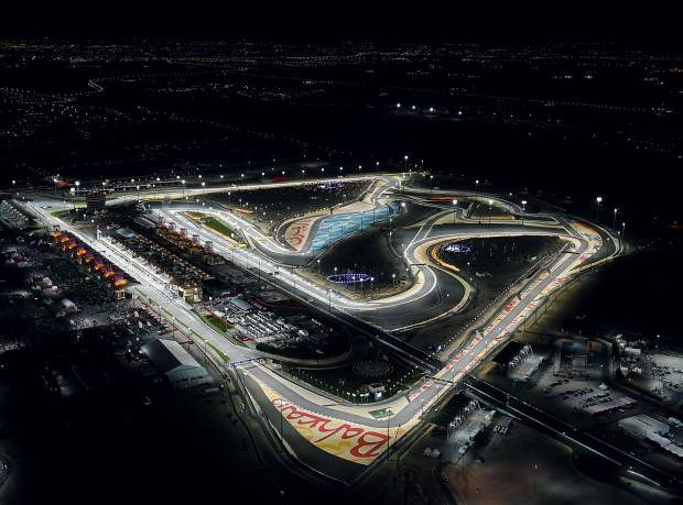 An aerial view of the BIC during the qualifying phase of April's Grand Prix