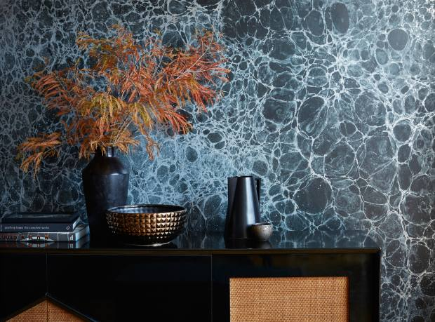 Calico Lunaris Midnight wallpaper, £220 per sq m