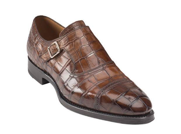 Bally crocodile Scribe Nuovo shoes, from £650. Made to order