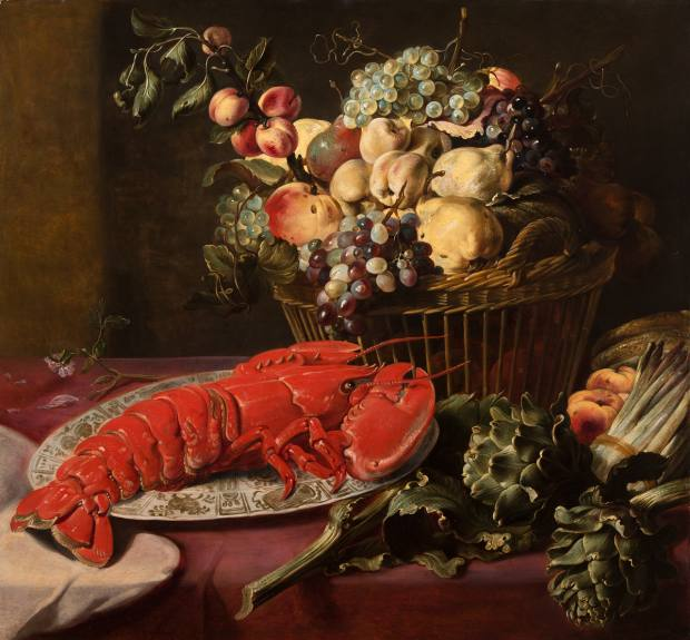 Still Life With Lobster, Artichokes, Asparagus and Fruits (circa 1630-1640), by Frans Snyders, will be presented by Klaas Muller