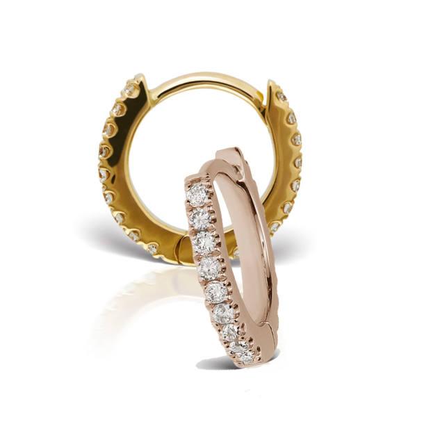Venus by Maria Tash rose-gold and diamond earrings, $420 each