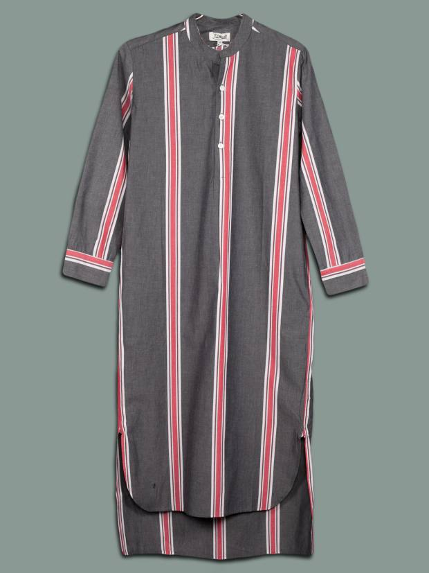 Cotton shirt with regimental stripes, €112