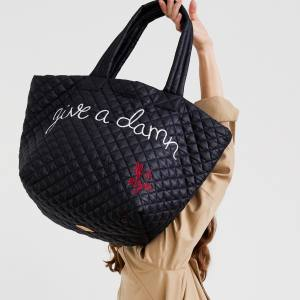 The Give a Damn quilted tote bags ($235) come in a limited edition of 700