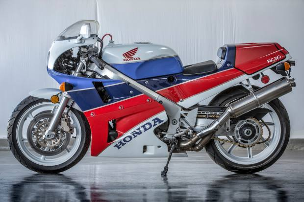 1990 Honda RC30. Estimate $40,000-$50,000