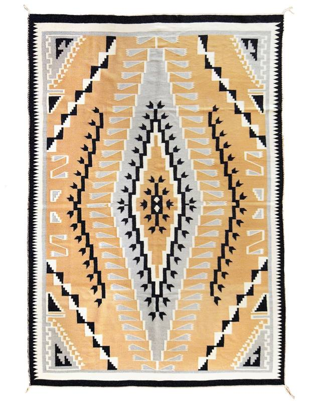 c1950 Trading Post rug, $6,618 through 1stdibs