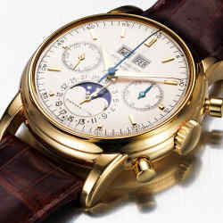 A Patek Philippe/Tiffany & Co gold chronograph bought at Tiffany's New York in 1974 and sold for £216,000 in 2009.