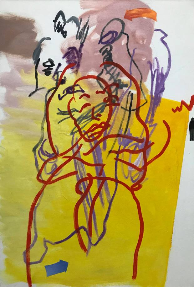 Xie Nanxing's double-sided portrait of naked friend, 2019