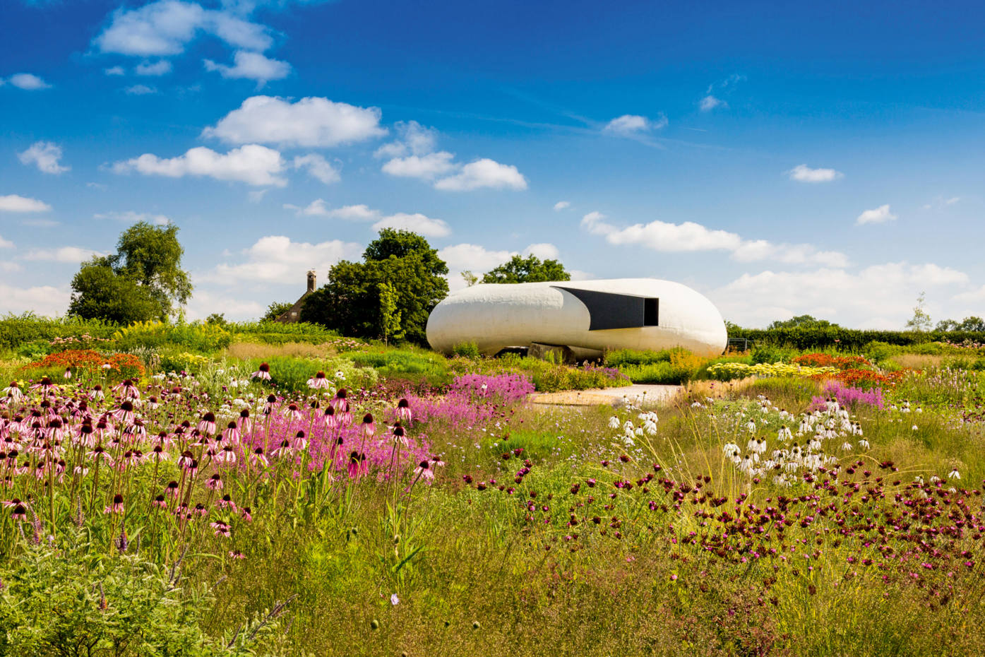 The Oudolf Field, a 1.5‑acre perennial meadow designed by Piet Oudolf for Hauser & Wirth Somerset