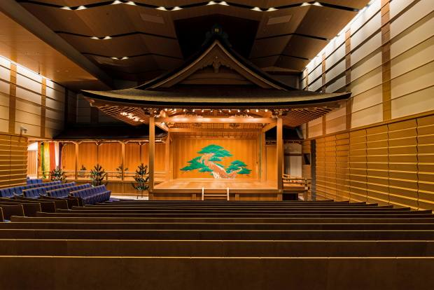 The Kanze Noh Theatre in the basement of Tokyo's new retail complex, Ginza Six
