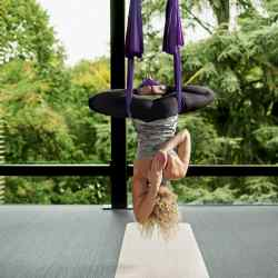 Aerial yoga helps core muscles and balance