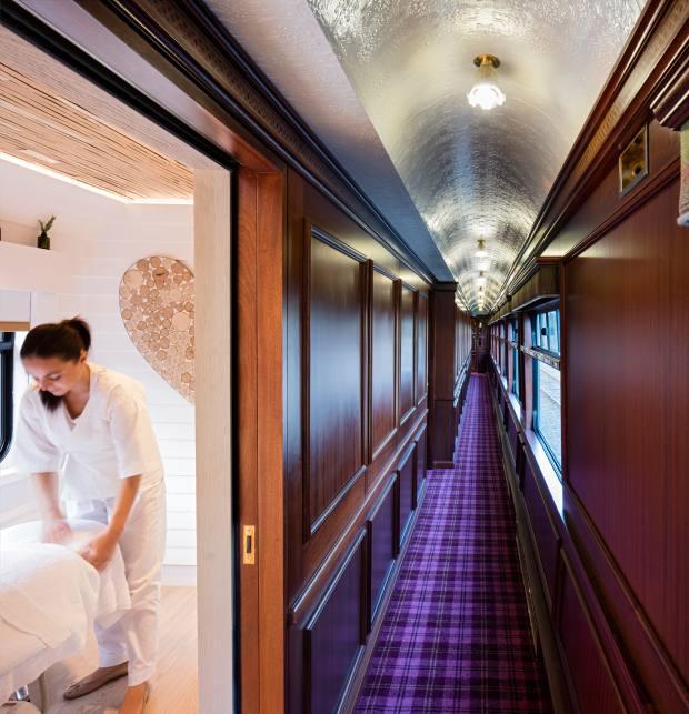 Treatments in the spa include a hot-stone massage and a mani/pedi