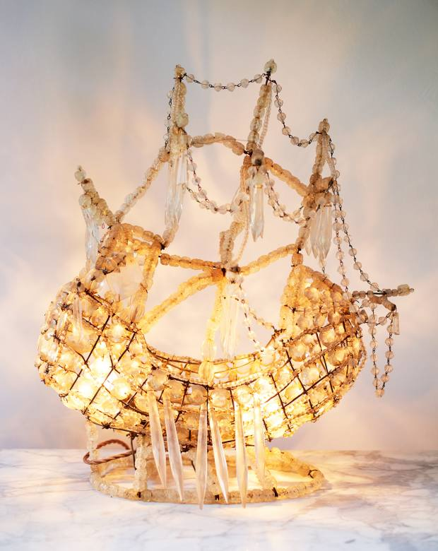Hoodless's early-20th-century French crystal ship's lamp
