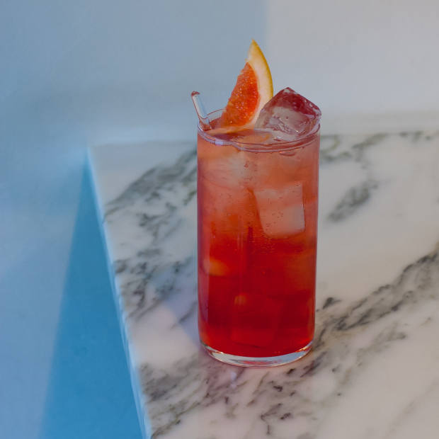 The Americano Vergano, with grapefruit and lemon soda, is the perfect summer alternative to a negroni