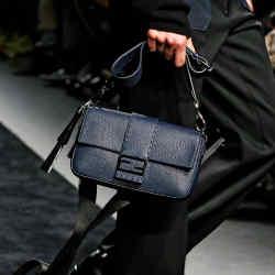 Fendi's pebbled leather Sellaria bag in navy, £2,090