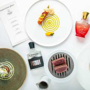 "Guests will be treated to a cocktail and a four-course ""sensory dinner"" inspired by Creed fragrances"