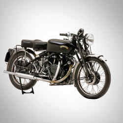 A 1952 ex-works Vincent 998cc Black Shadow, sold for £113,500 at Bonhams