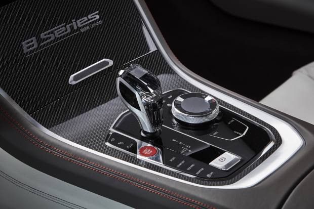 The new BMW Concept 8 Series' iDrive controller, made from smoky Swarovski glass
