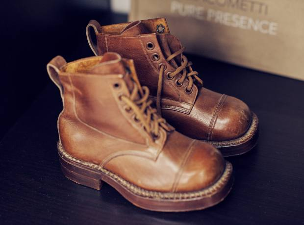 The leather boots Charlie Casely-Hayford wore as a child