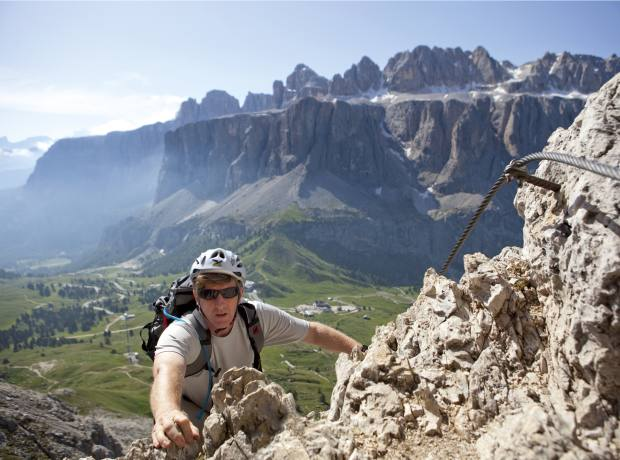 James on the Piccola Cir, the Sella Group behind.