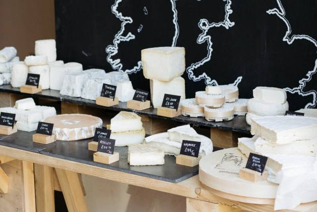 Spa Terminus sells organic cheese on Saturday mornings