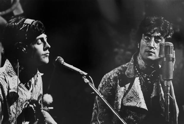 Paul McCartney and John Lennon during rehearsals in 1967, £1,400