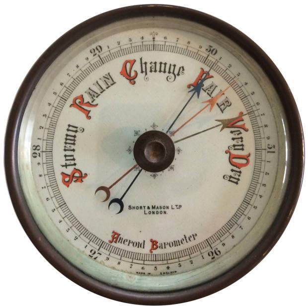 Short & Mason c1925 barometer, £485, from Richard Twort
