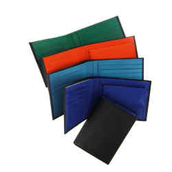 The Organise-Us leather wallets (£80 each) come in five colourways