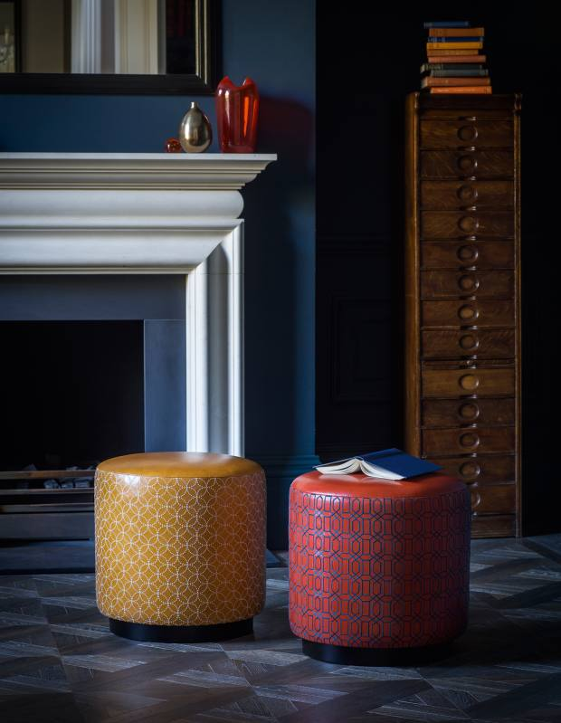 Whistler Leather x Victoria Bain leather stools, £2,050 each