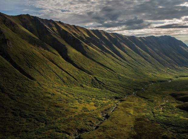 The Hanagita valley, Wrangell-St Elias National Park