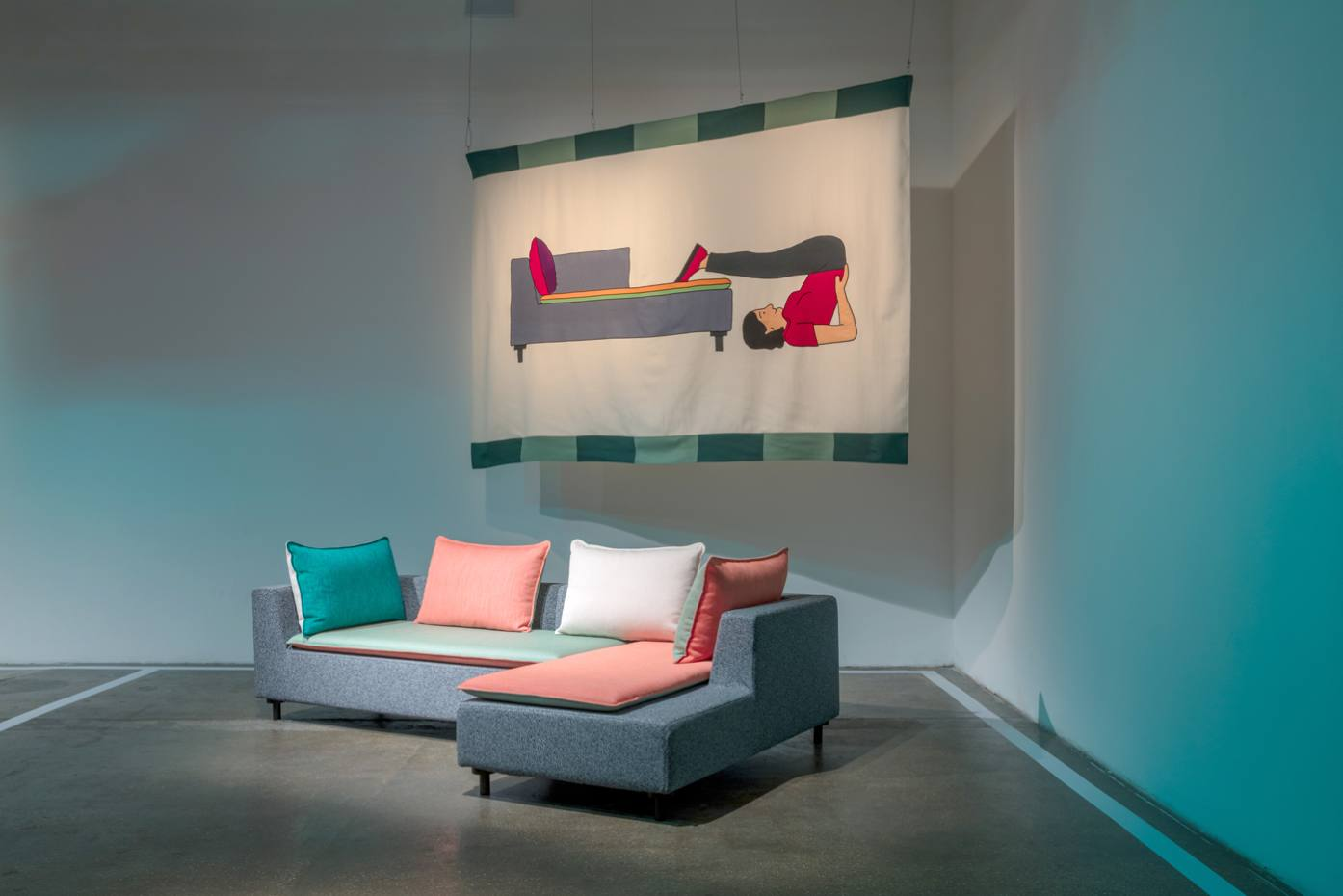 Konstantin Grcic's Barbican sofa (from £2,000) features bold block colours