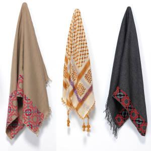 Keffiyeh shawls, from £68