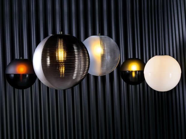 Sebastian Herkner for Pulpo hand-blown glass Stellar globe pendant lights, from £350