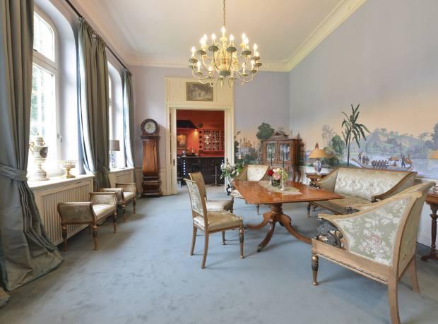 A room in the Herrenhaus, with Zuber wallpaper