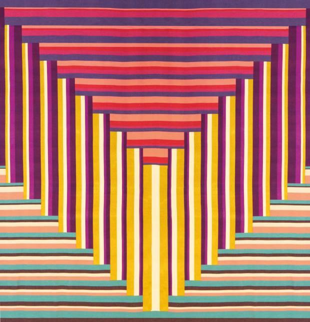 Margo Selby's geometric textile Vexillum, £18,000