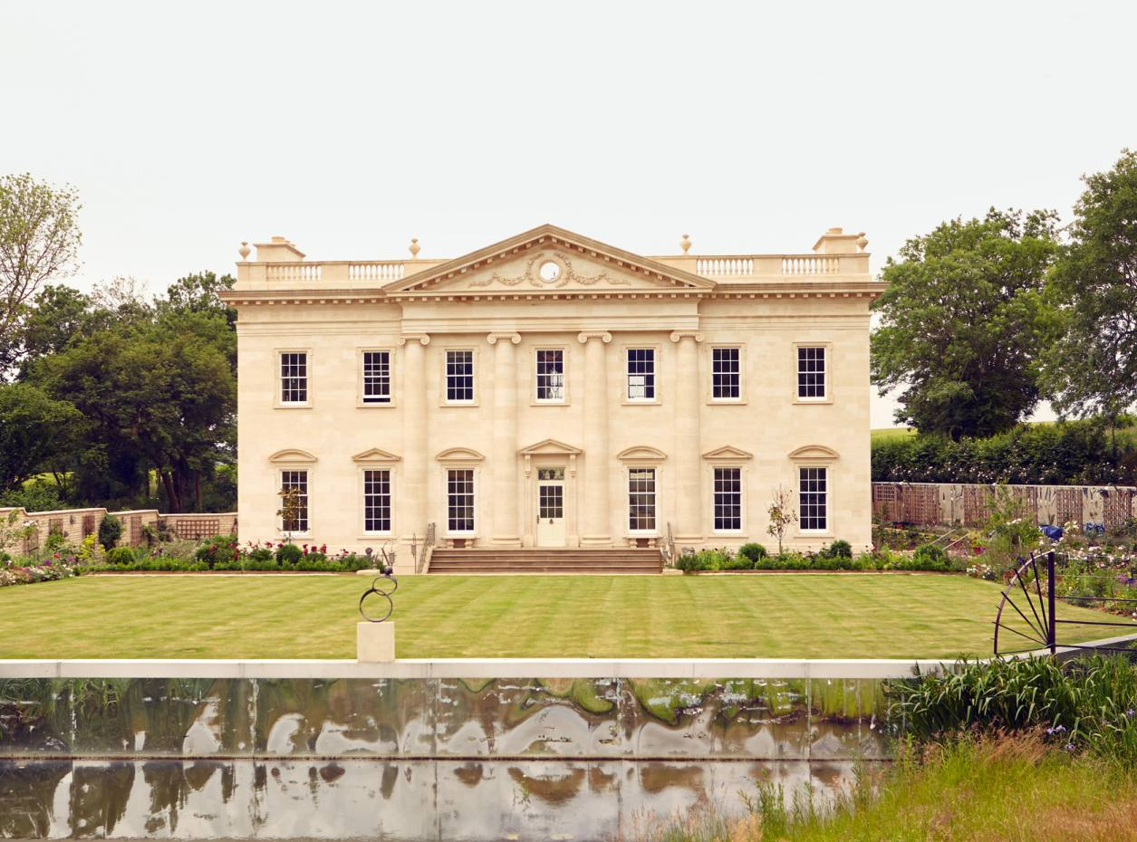 Susanna and John White's Palladian-style villa in the Cotswolds, created with architect Martin Branston