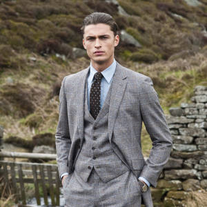 Gieves & Hawkes wool jacket, £595, waistcoat, £150, and trousers, £200