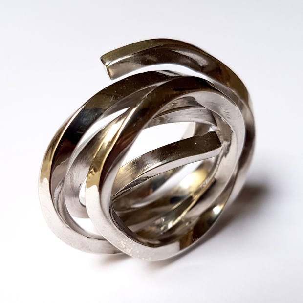 Bernar Venet's Indeterminate Line ring, 2017, $16,500