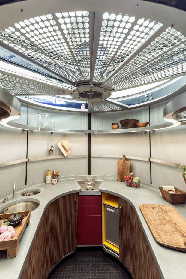 The kitchen inside the Prouvé 6x6 house